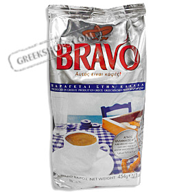 Bravo Pure Ground Greek Coffee - Net Wt.16oz (454 gr)