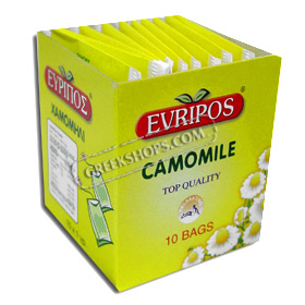 Evripos Greek Chamomile in Tea Bags (10 per pack)