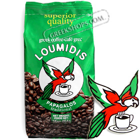 Loumidis Papagalos Greek Coffee Black - Net Wt. 454 gr