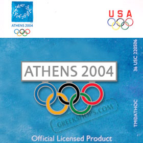 Athens 2004 5 Rings Pin