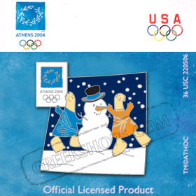 Athens 2004 Mascot Holiday Pin