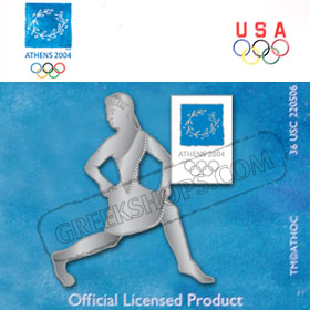 Athens 2004 3 D Girl Runner Pin
