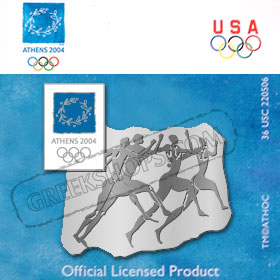 Athens 2004 Ancient Runners Pin