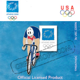 Athens 2004 Cycling Pin