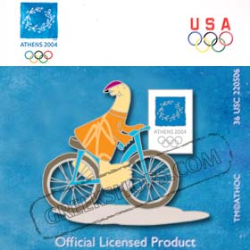 Athens 2004 Mascot Cycling Pin