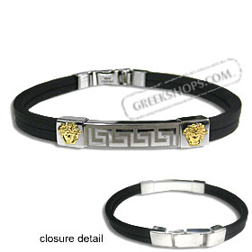 The Hephaestus Collection - Rubber Bracelet with 18k Gold Emblem - Double Aphrodite