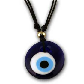 Adjustable Glass Evil Eye Necklace 34mm