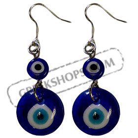 Earrings w/ Mati Evil Eye 56mm