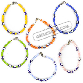 Mati Evil Eye Bracelet with Seed Beads (6 Color Options) BI5