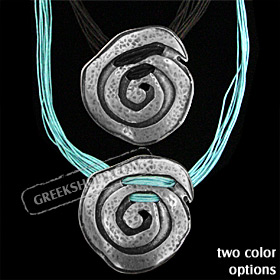 Byzantium Collection - Necklace with Swirl Motif KY190 (2 Color Options)