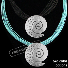 Byzantium Collection - Necklace with Swirl Motif KY40 (2 Color Options)