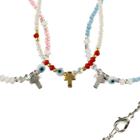 Mati Evil Eye and Cross Necklace 101569 (Color Options)