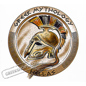Ancient Greece Helmet Tshirt Style D43