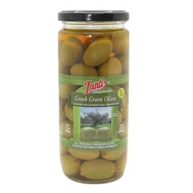 Fantis Greek Green Olives, 16.9oz (500ml)