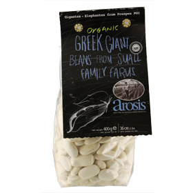 Arosis Organic Greek Giant Beans from Small Family Farms (400g)