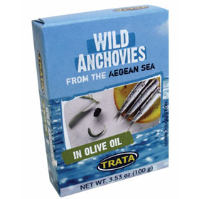 Trata Wild Caught Aegean Sea Anchovies in Olive Oil 100g.