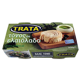 Trata Tuna in Greek Olive Oil, Product of Greece, 2 x 160 grams