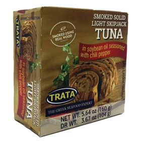 Trata Smoked Solid Light SkipJack Tuna in Soy Bean Oil w/ Chili Pepper
