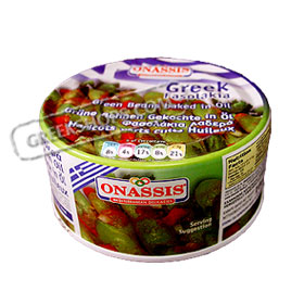 Onassis Ready Meals :: Green (string) Beans - Fasolakia, in Oil Net Wt. 8.8 oz