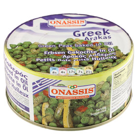 Onassis Traditional Peas in Vegetable Oil - Arakas - 280gr Can