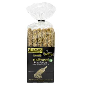 Tsanos Greek Multiseed Breadsticks, Sugar Free, 140gr
