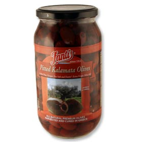 Pitted Kalamata Olives by Fantis, 1L jar
