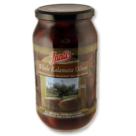 Whole Kalamata Olives by Fantis, 1L jar