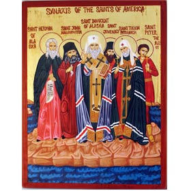 Synaxis of the American Saints - 19x25cm