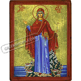 Orthodox Saint - Virgin Mary, Mt. Athos - 10x13cm