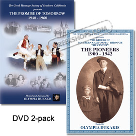 The Greeks of Southern California, Pioneers & Promise of Tomorrow 2 DVD set