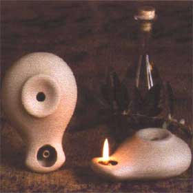 Ceramic Olive Oil Lamp - Olympios 01SI2
