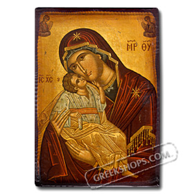 Virgin Mary, Paper Reproduction Icon 10 x 14 cm