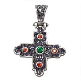 Mystras Byzantine Collection, Sterling Silver Square Cross 30mm
