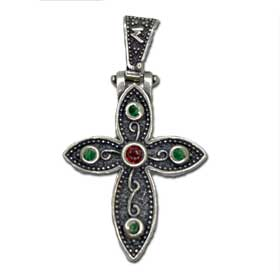 Mystras Byzantine Collection, Sterling Silver Cross 30mm