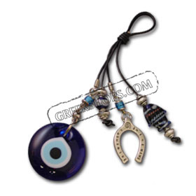 Good Luck Decorative Charm with blue glass 121102