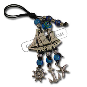 Good Luck Decorative Charm with Sailboat 121104