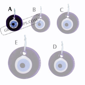Decorative Glass Evil Eye 121112 Size A
