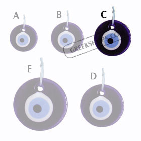 Decorative Glass Evil Eye 121112 Size C
