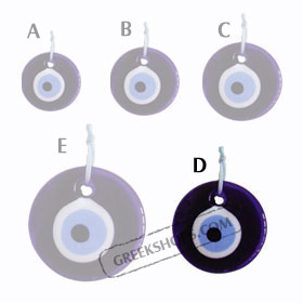 Decorative Glass Evil Eye 121112 Size D