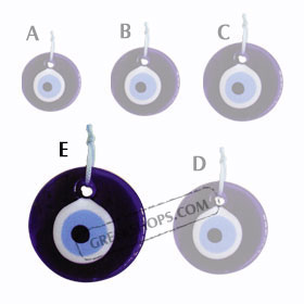 Decorative Glass Evil Eye 121112 Size E