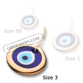 Decorative Glass Evil Eye - Gold - Style 3_GO