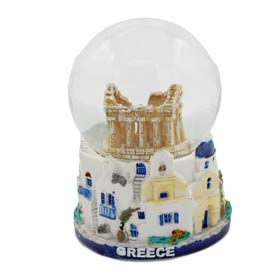 Athens - Parthenon & Greek Islands Snow globe 10cm