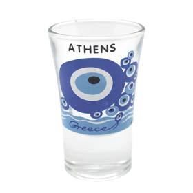 Greece Evil Eye Shot Glass