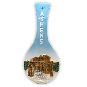 Decorative Athens Greece Ceramic Spoon Rest