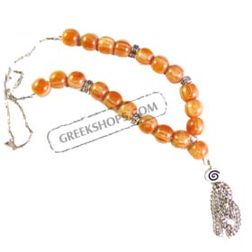 Glass Worry Beads KN41A Honey Color