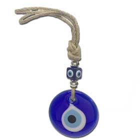 Decorative Greek Evil Eye Sisal tie  8.0cm