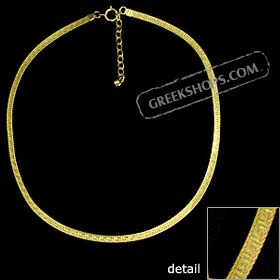 The Prestige Collection - Gold Overlay Greek Key Single Necklace SPECIAL PRICE