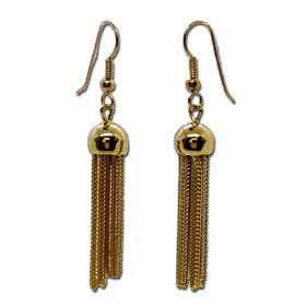 The Prestige Collection - Gold Overlay Tassel Hoop Earrings  30mm