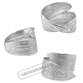 The Elaia Collection - Sterling Silver Ring - Olive Leaf (Adjustable)