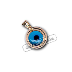 Greekshops greek products greek gold jewelry 14k gold evil 14k gold evil eye pendant 12mm aloadofball Gallery